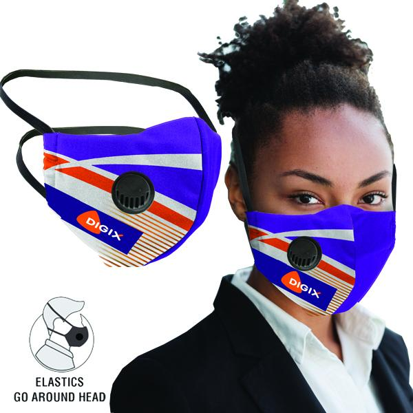 Axel 3 Layer Mask With Single Respiratory Valve Fc