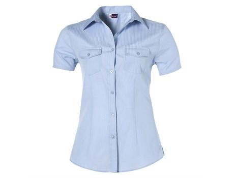Ladies Short Sleeve Bayport Shirt - Light Blue Only