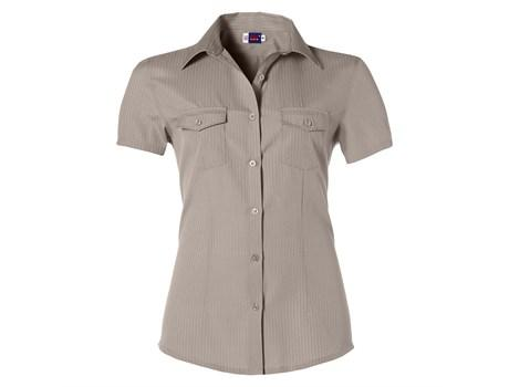Ladies Short Sleeve Bayport Shirt - Khaki Only