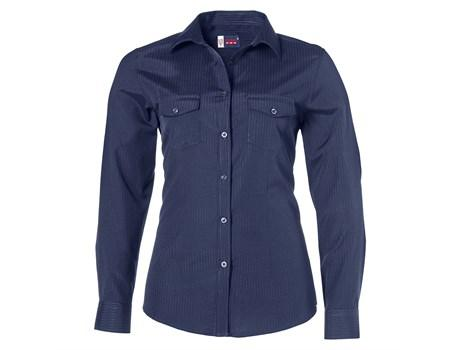 Ladies Long Sleeve Bayport Shirt - Navy Only