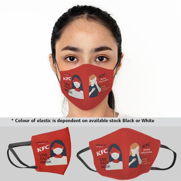 FACE MASKS & SHIELDS   Gage Sublimated 3 Layer Washable Beak Mask-ladies - 1