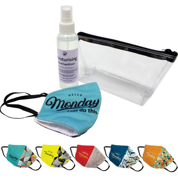 Jada Cosmetic Pouch With 5 Day Masks And Sanitiser