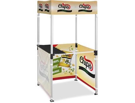 Ovation Gazebo 1m X 1m Kiosk 3 Half-wall Skins
