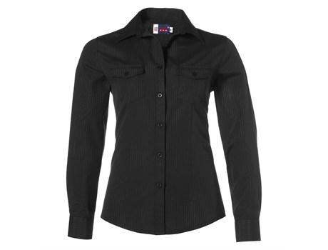 Ladies Long Sleeve Bayport Shirt - Black Only
