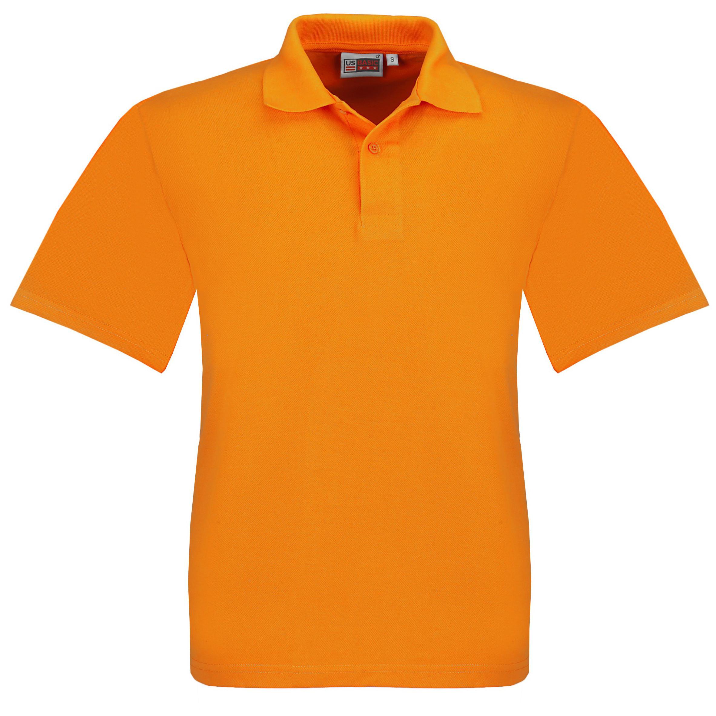 Mens Elemental Golf Shirt - Orange Only