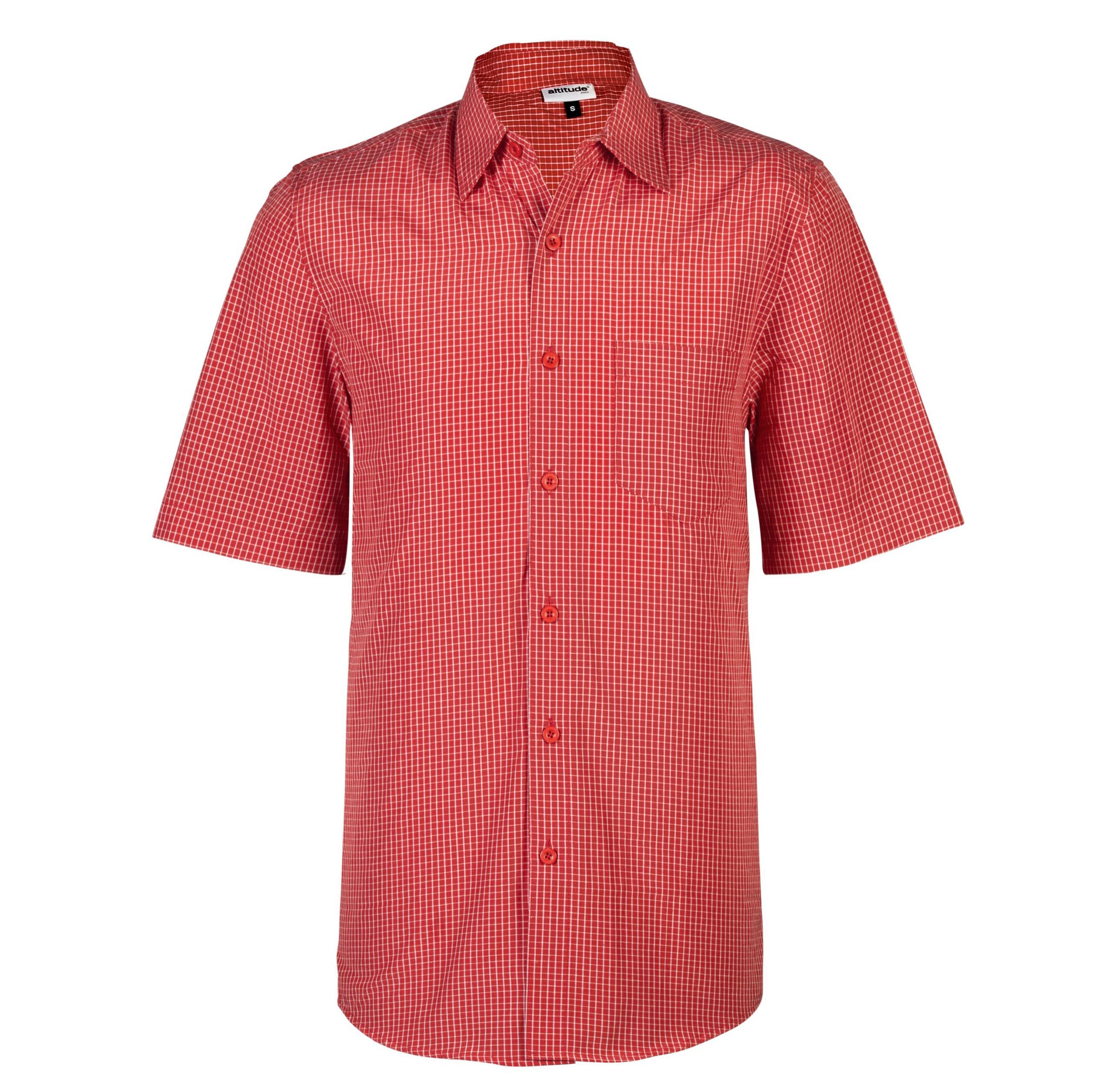 Mens Short Sleeve Cedar Shirt - Red Only