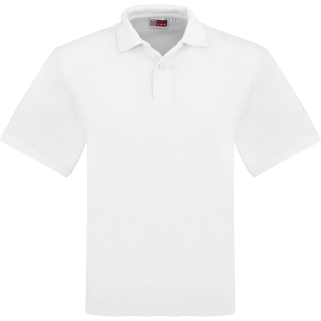 Mens Elemental Golf Shirt -white Only