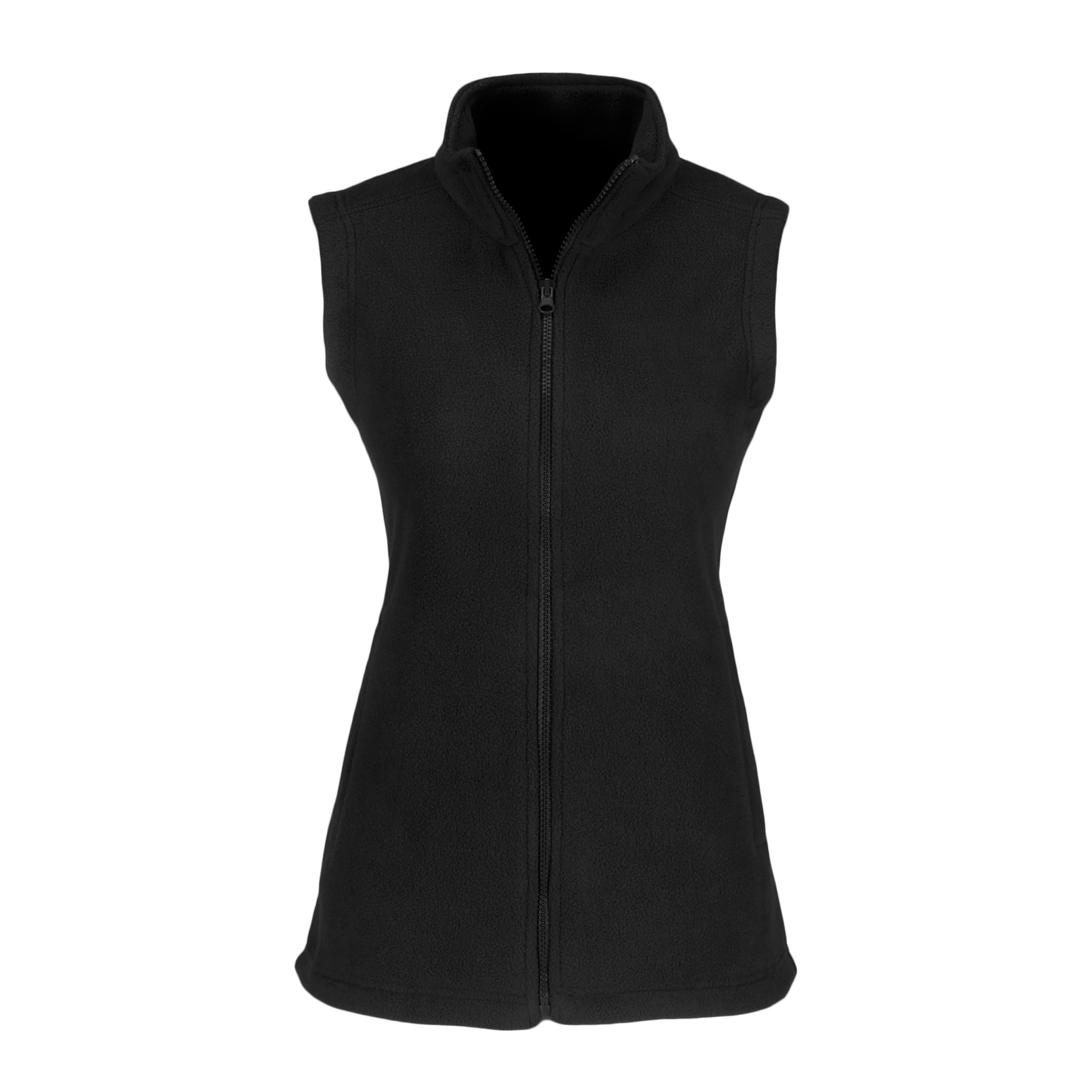 Ladies Yukon Micro Fleece Bodywarmer - Black Only