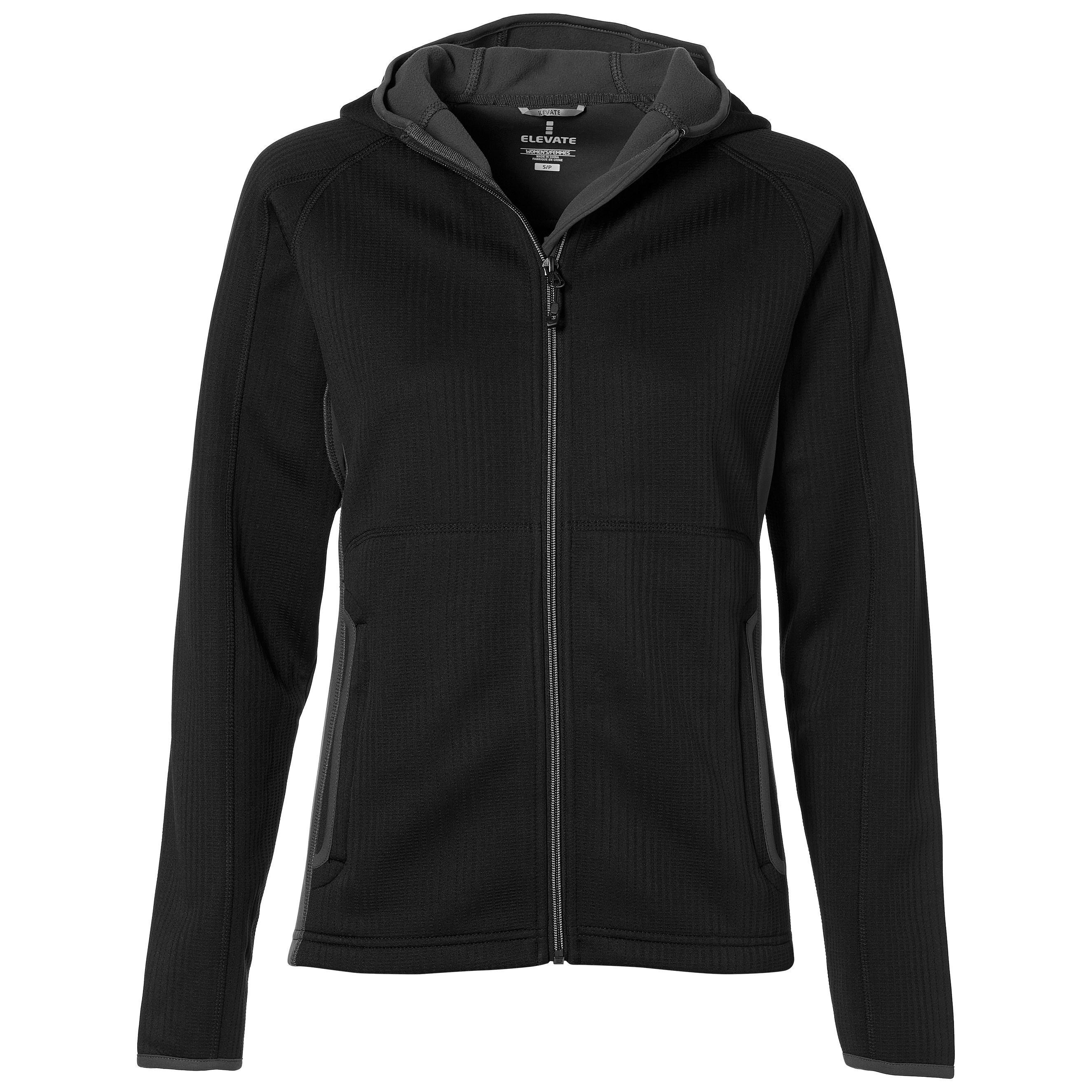 Ladies Ferno Bonded Knit Jacket - Black Only
