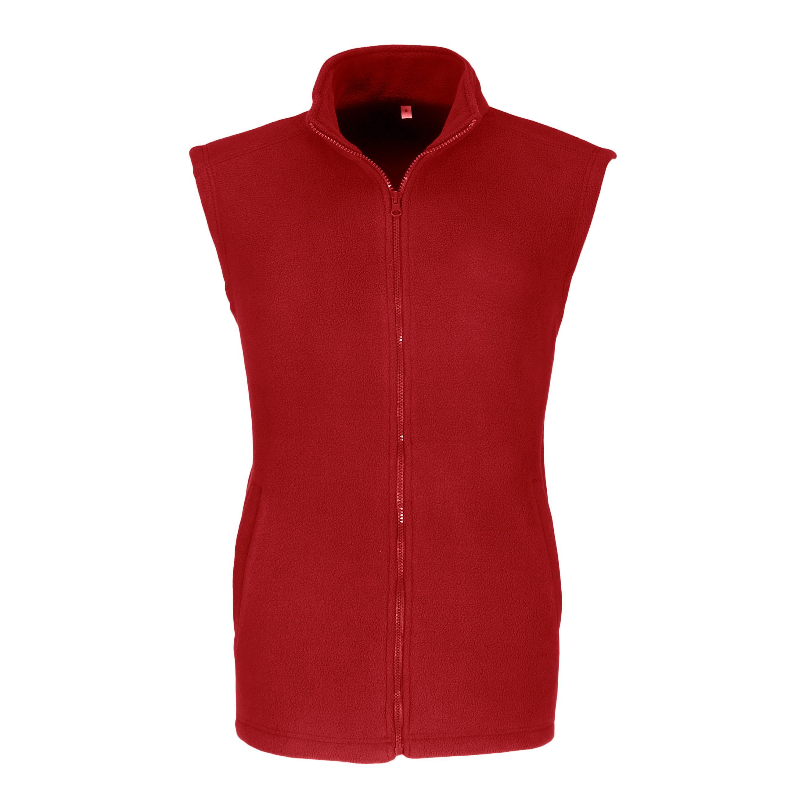 Mens Yukon Micro Fleece Bodywarmer - Red Only