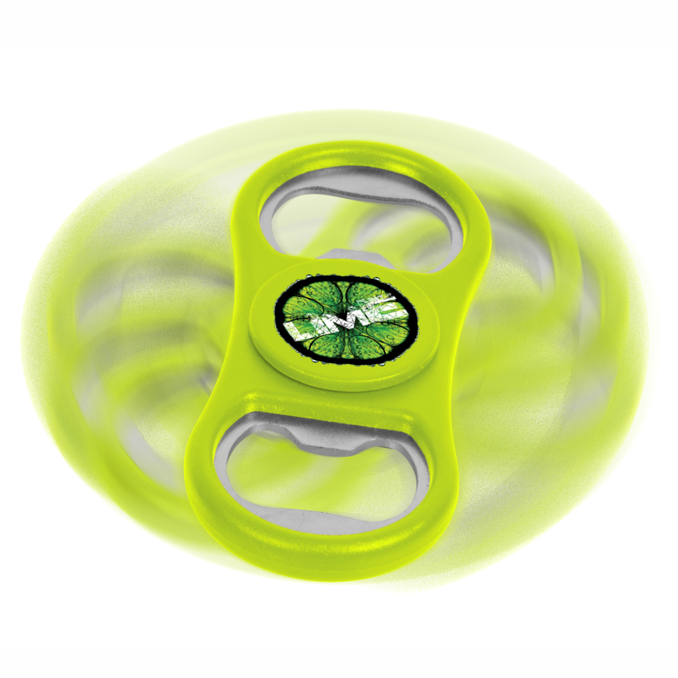 Caps-off Spinner Bottle Opener - Lime Only