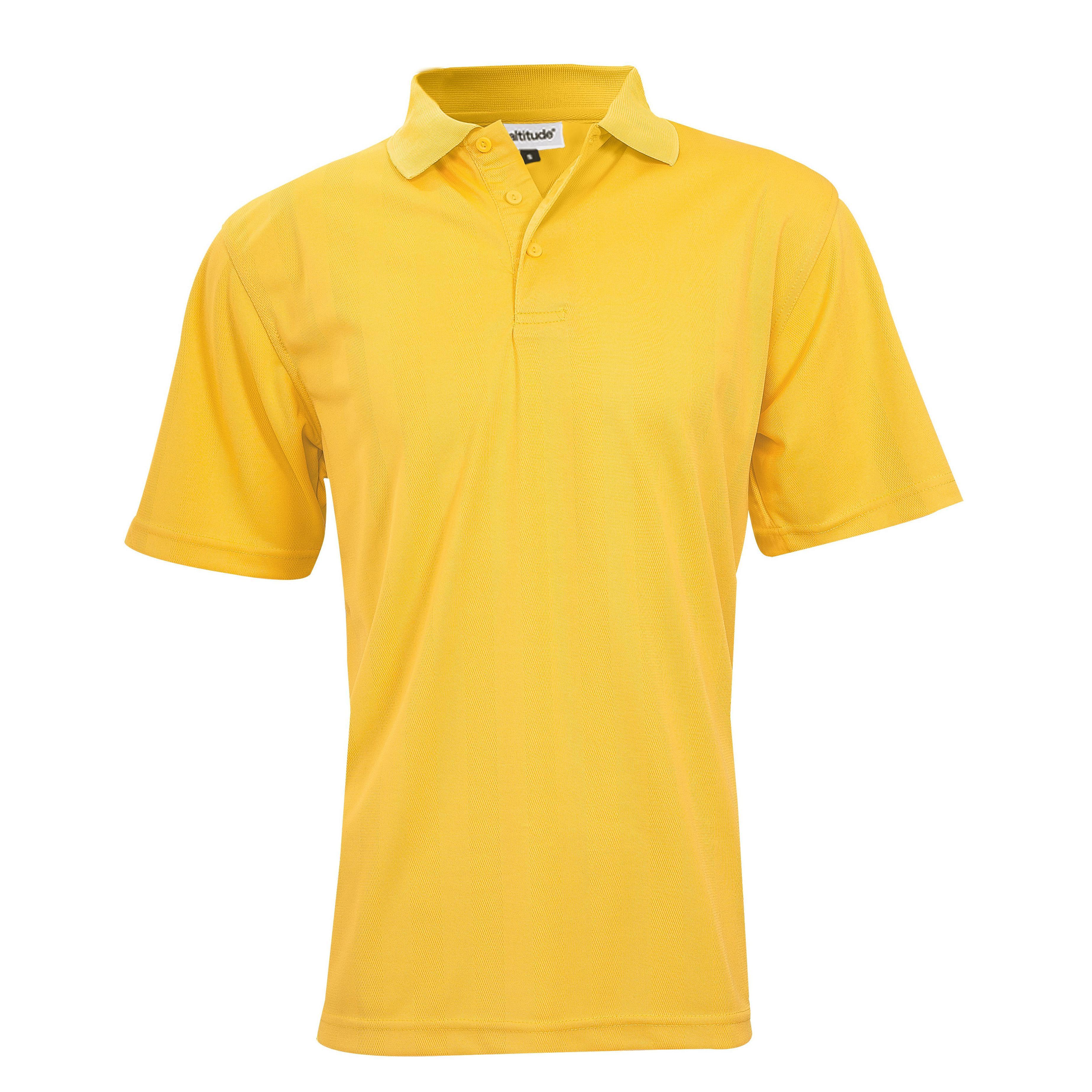 Mens Barcelona Golf Shirt - Yellow Only