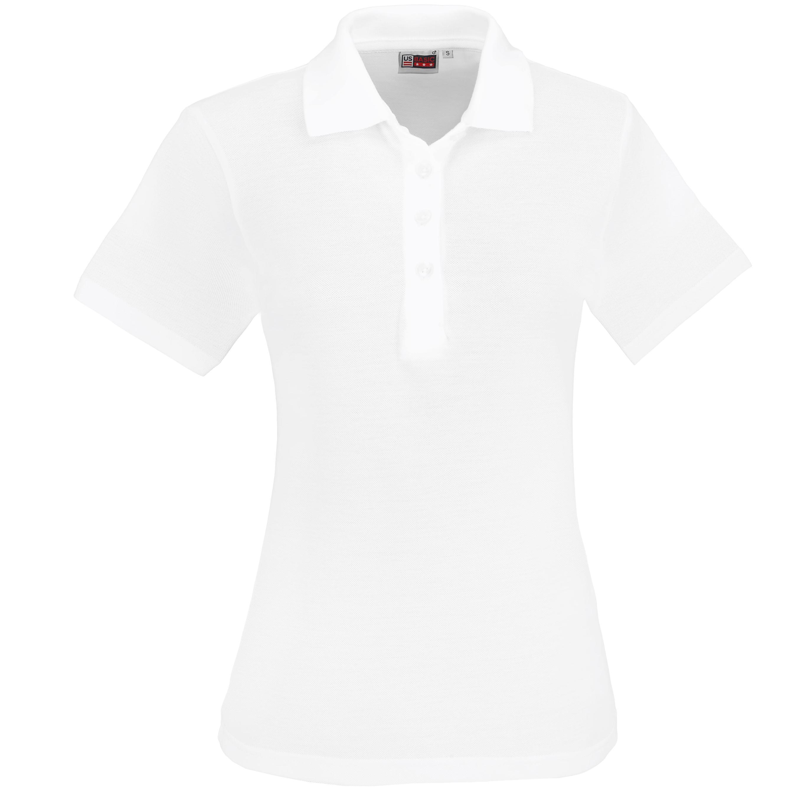 Ladies Elemental Golf Shirt -white Only
