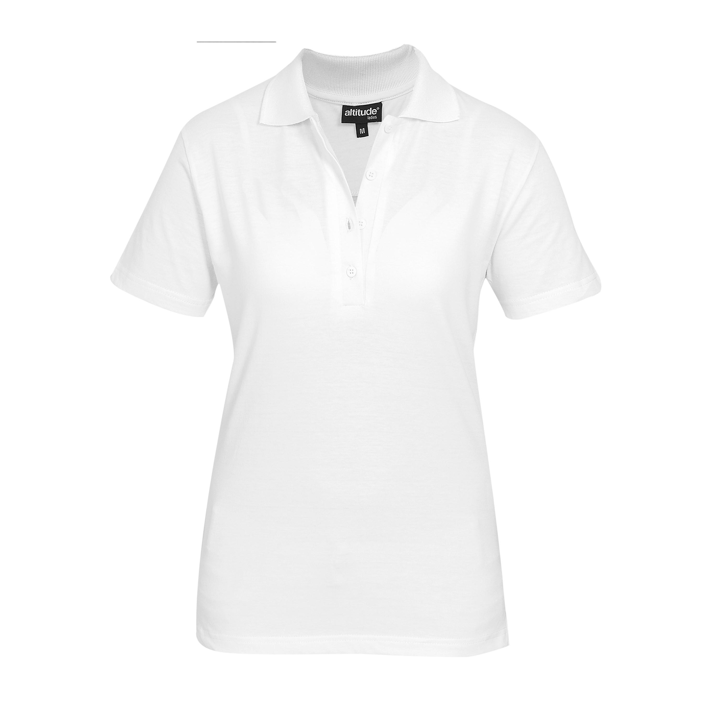 Ladies Michigan Golf Shirt -white Only