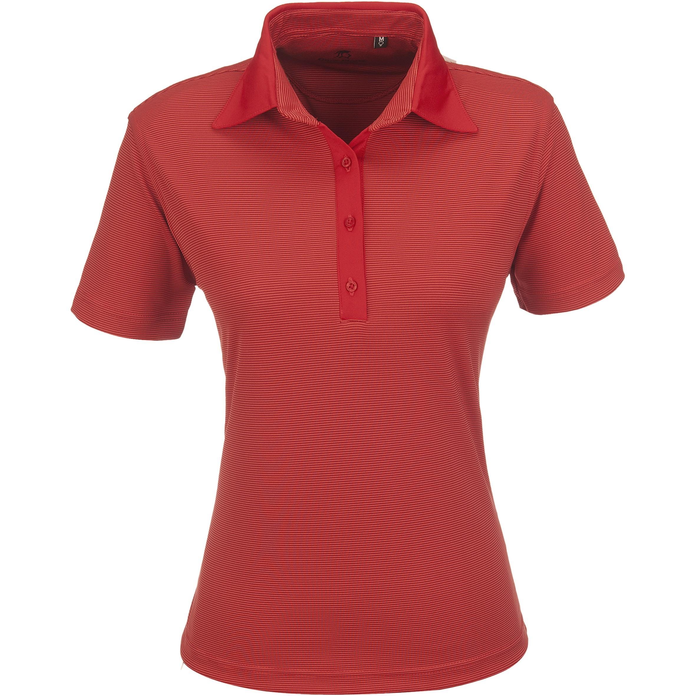 Ladies Michigan Golf Shirt - Red Only