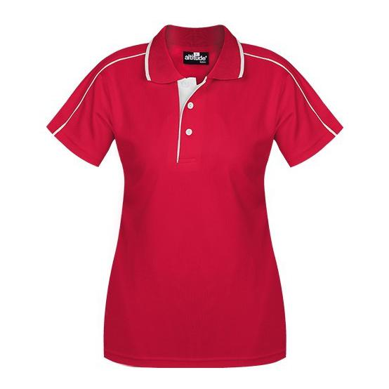Ladies California Golf Shirt - Red Only