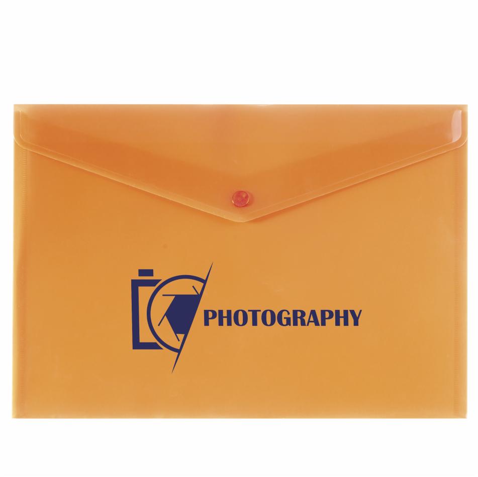 Basix Document Pocket - Orange Only
