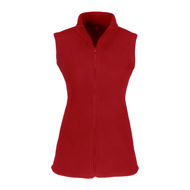 Ladies Yukon Micro Fleece Bodywarmer - Red Only