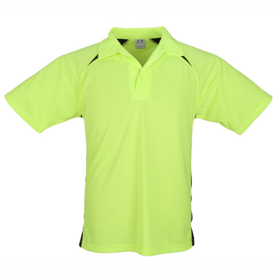 Kids Splice Golf Shirt  - Lime Only