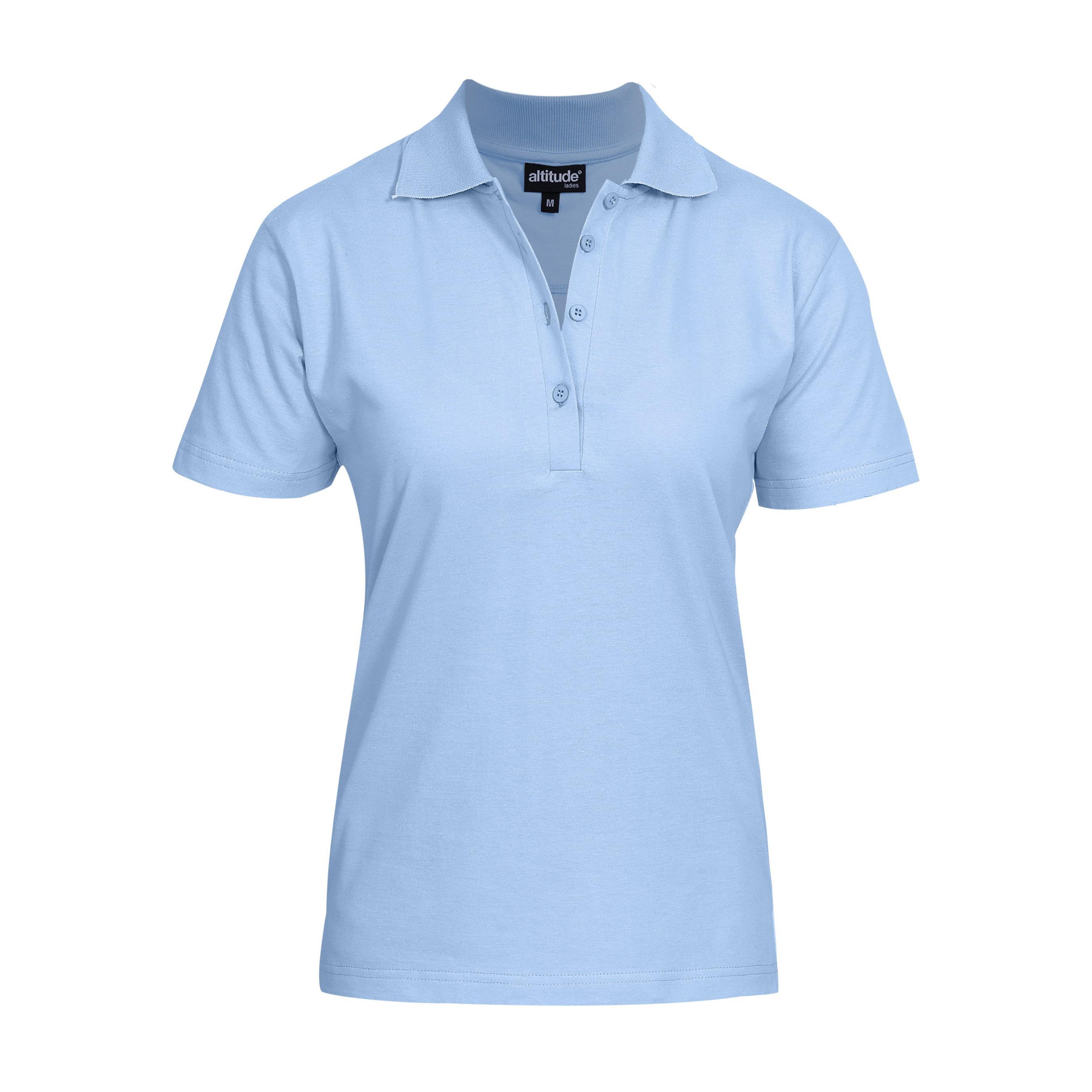 Ladies Michigan Golf Shirt - Light Blue Only