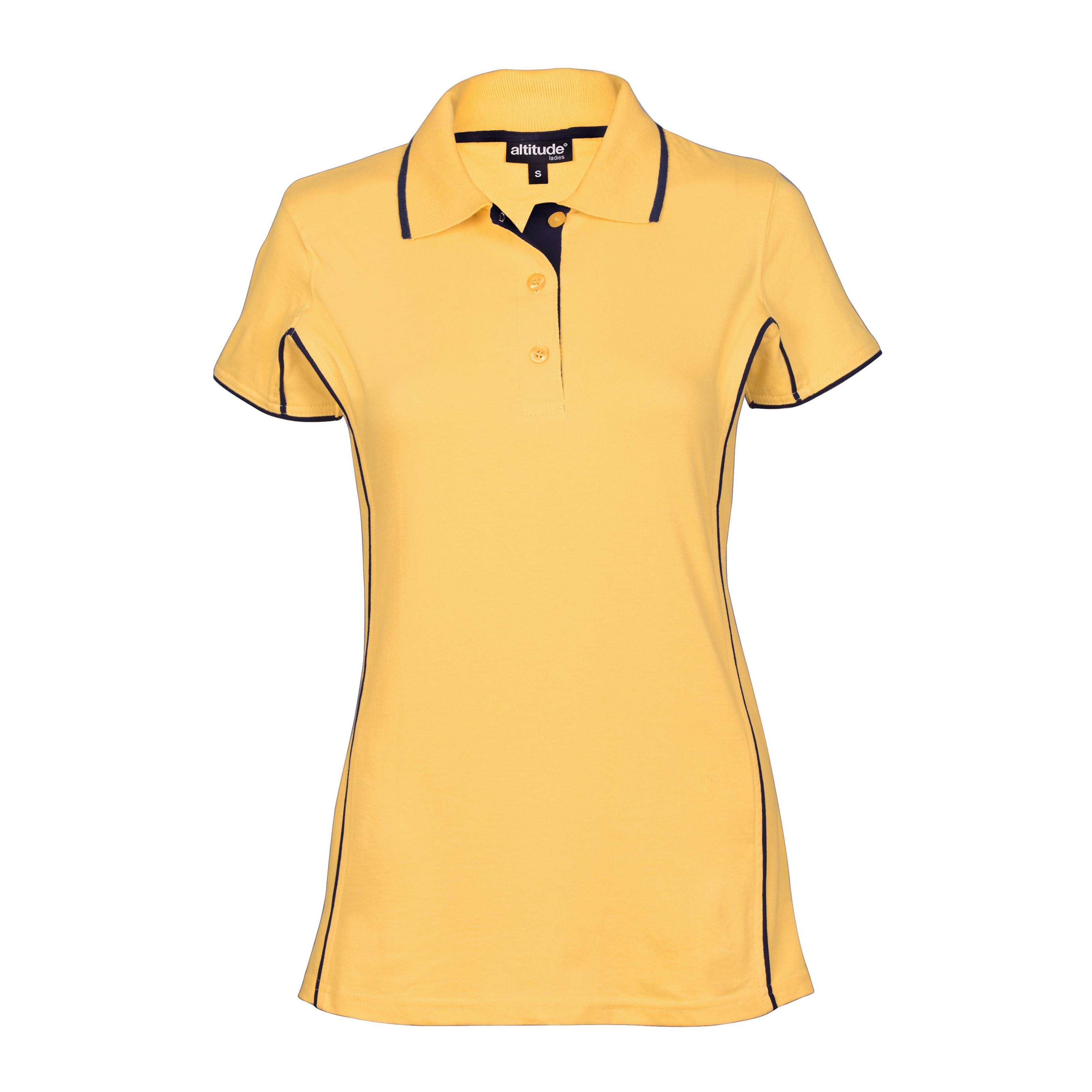 Ladies Denver Golf Shirt - Yellow Only
