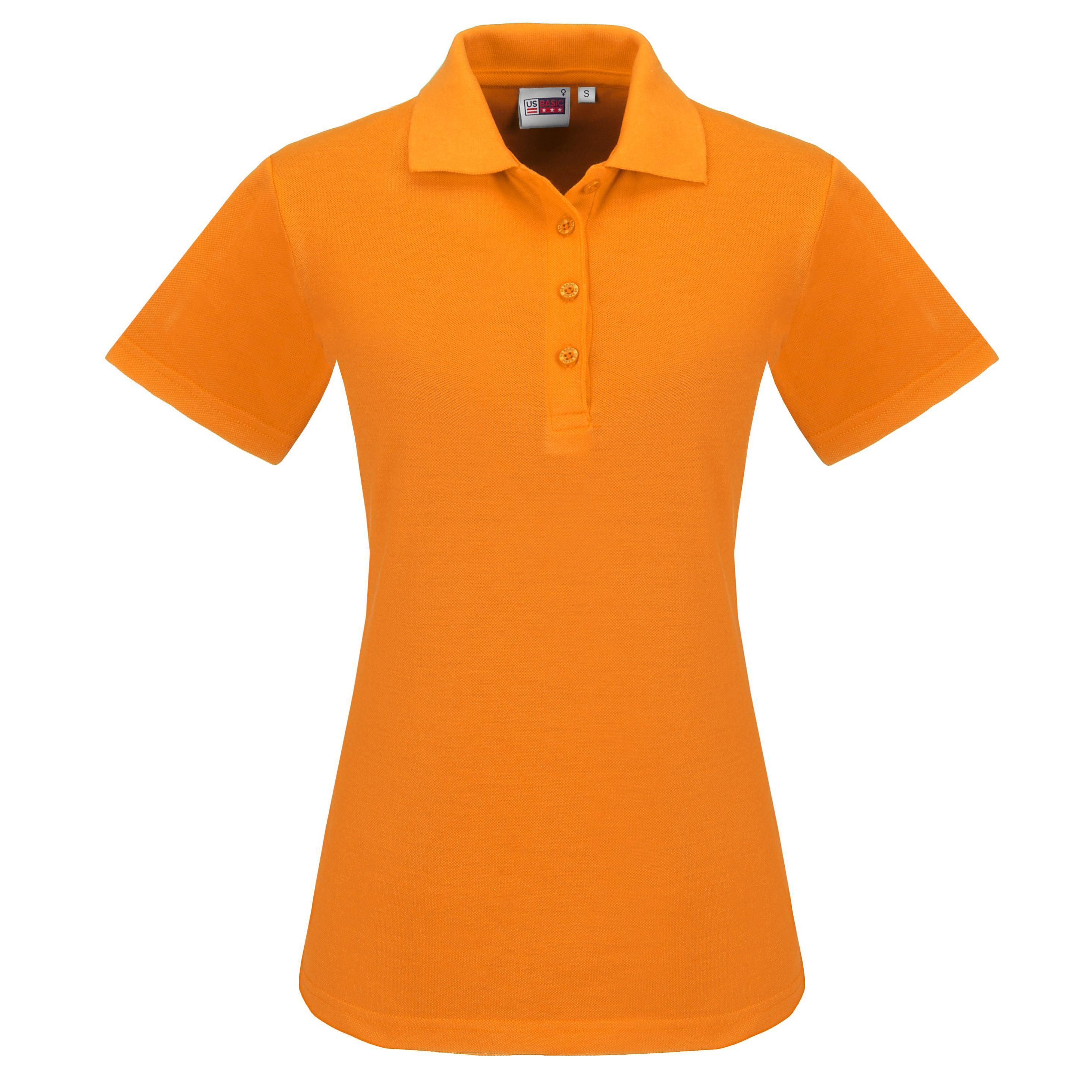 Ladies Elemental Golf Shirt - Orange Only