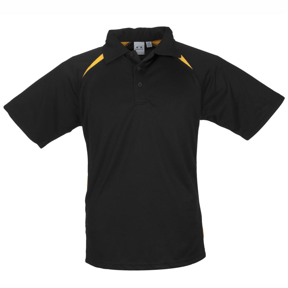 Kids Splice Golf Shirt  - Black Yellow Only
