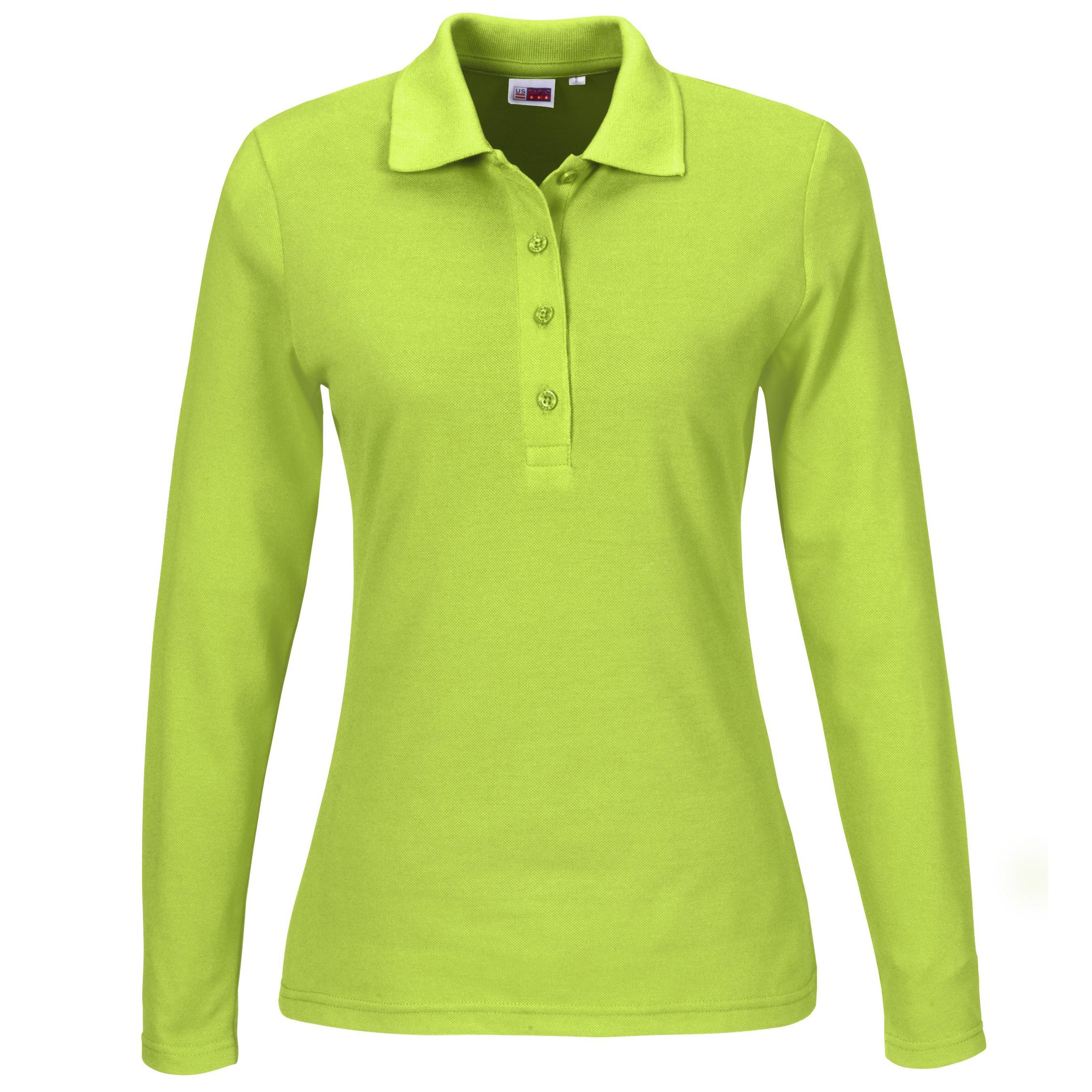 Ladies Long Sleeve Elemental Golf Shirt - Lime Only
