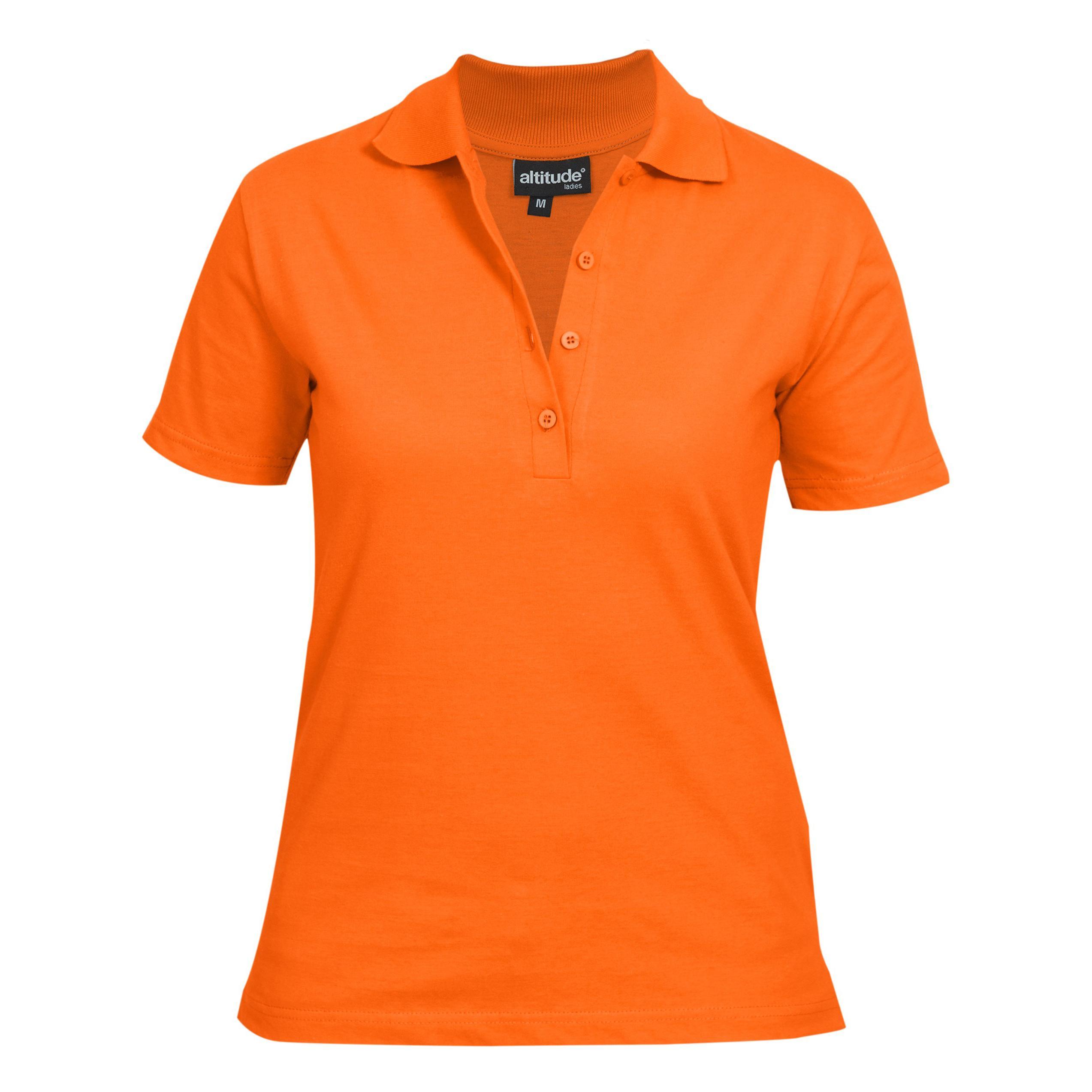 Ladies Michigan Golf Shirt - Orange Only
