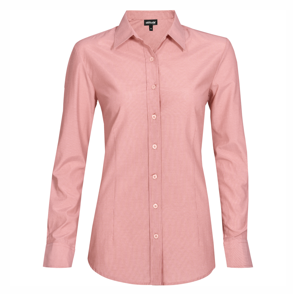 Ladies Long Sleeve Portsmouth Shirt - Red Only