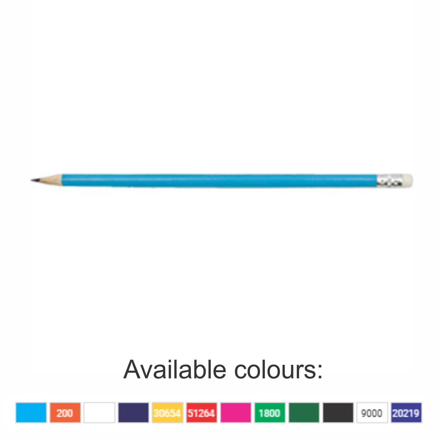 Pencils With 1 Colour Print