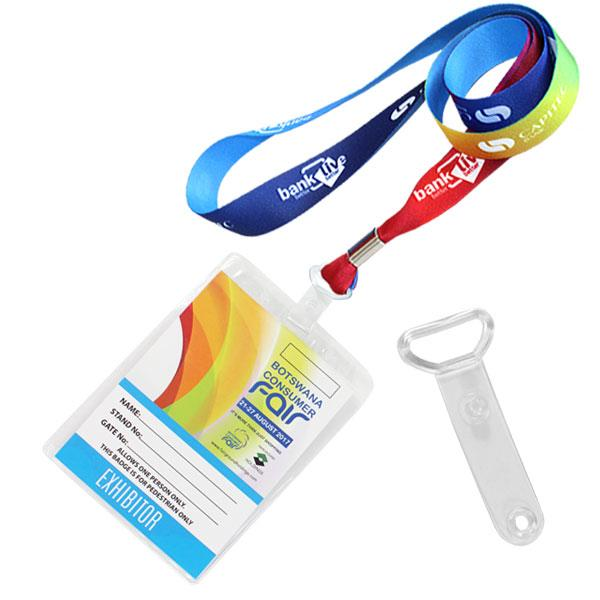 Fc Trade Show Lanyard 2 Sided With Plastic Clip