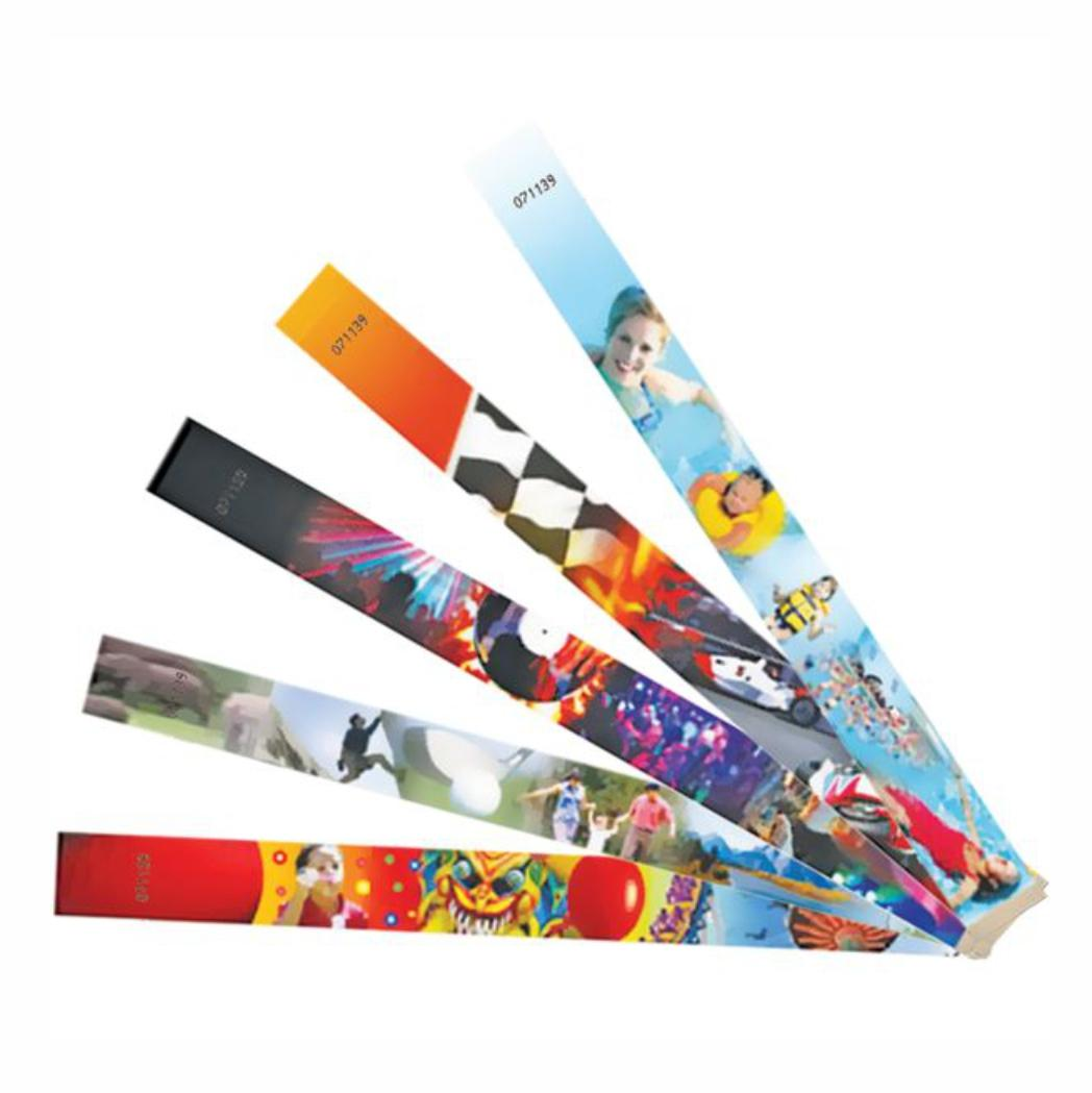 Tyvek Wristbands With Full Colour Print