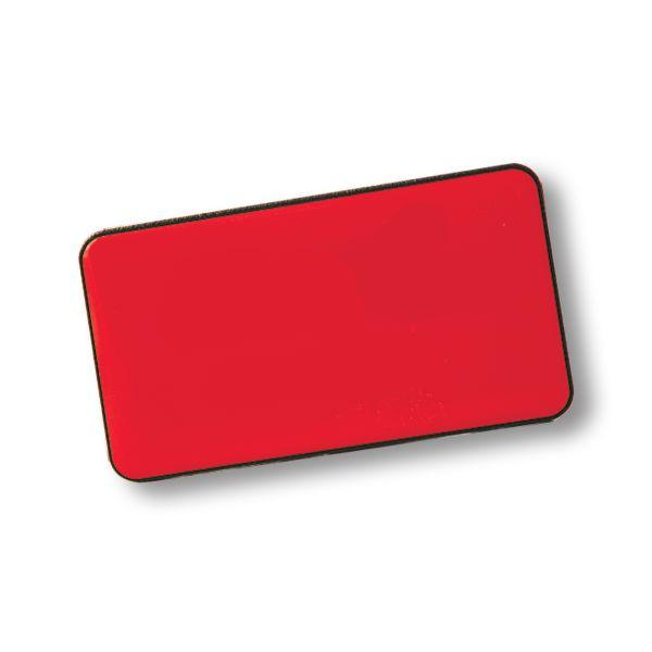 Large Rectangle Name Badge + Pin With Fc Dome