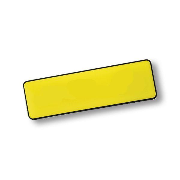 Rectangle Name Badge + Magnet With Fc Dome