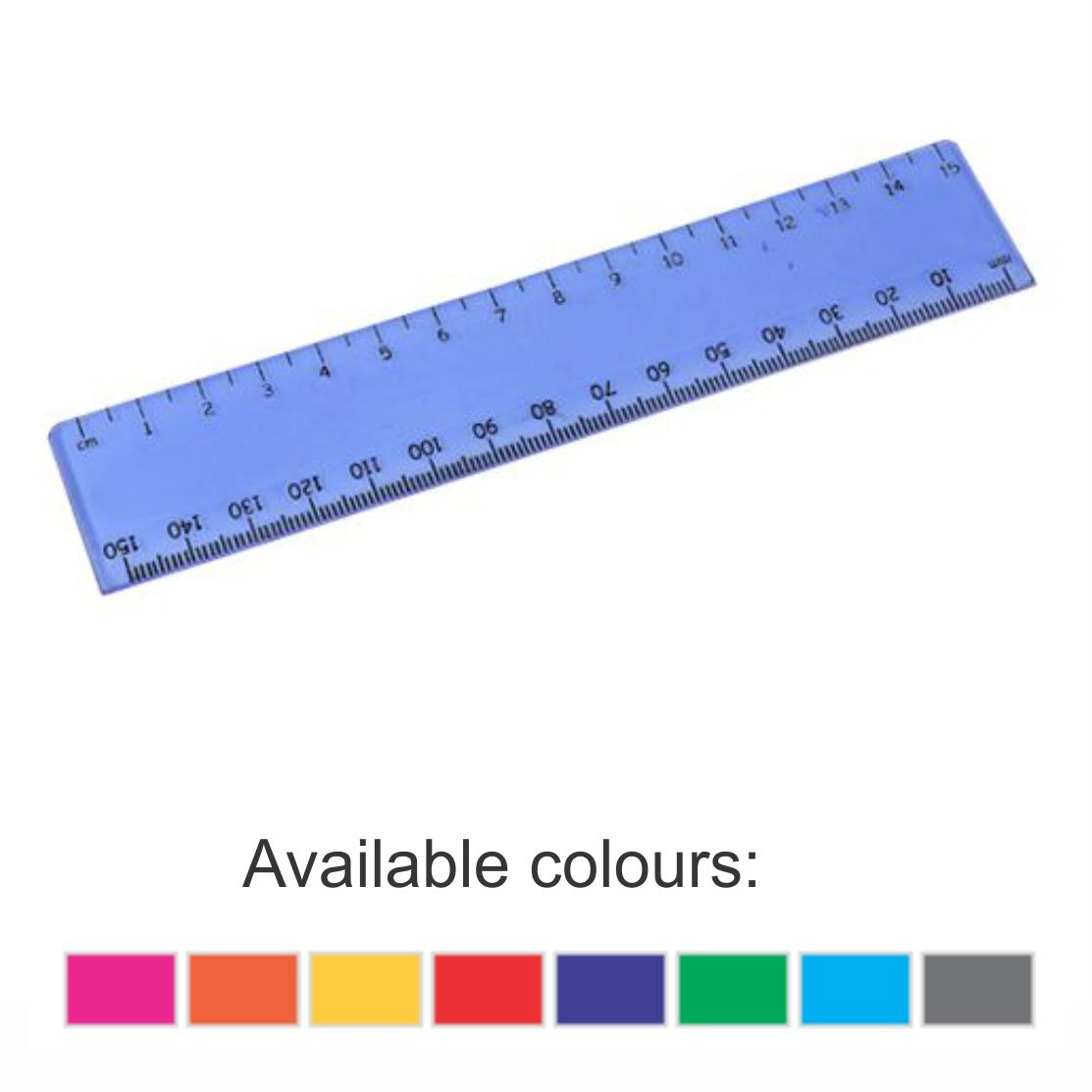 15cm Transparent Ruler With 1 Colour Print