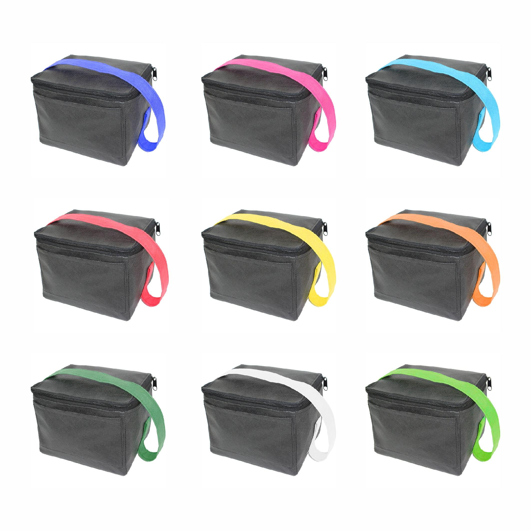 Alt Non Woven 6 Can Cooler Bag With Pocket + 1 Col
