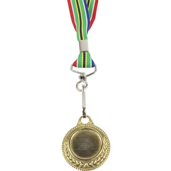 Gold Medal With Sa Flag Ribbon