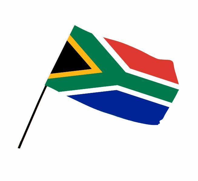 Sa Hand Flag With Full Colour