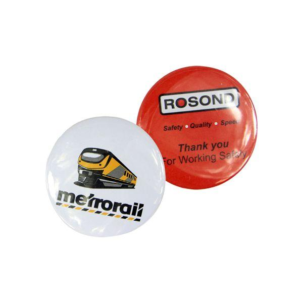 Round Button Badges 56mm With Full Colour