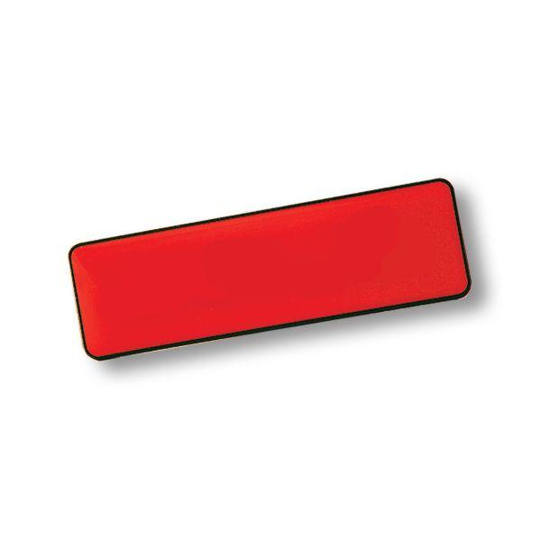 Rectangle Name Badge+pin With Fc Dome