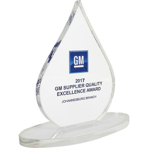 Performance Teardrop Award With Full Colour