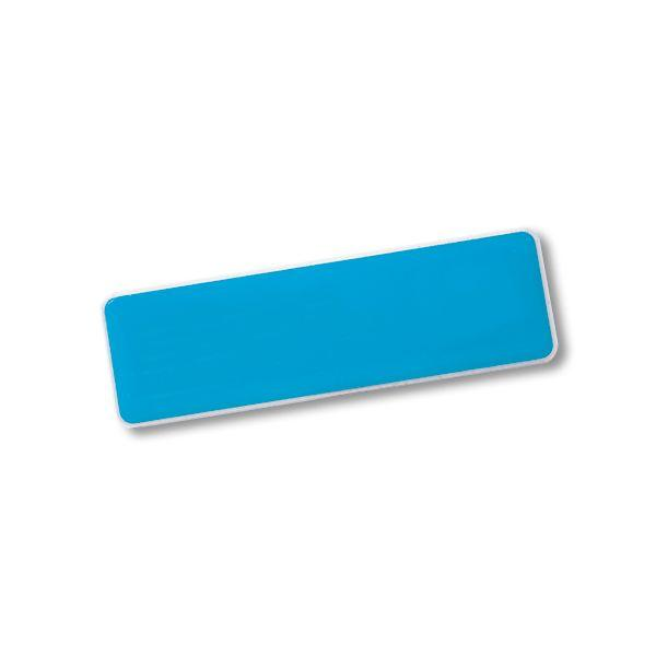 Rectangle Name Badge +pin With Fc Dome
