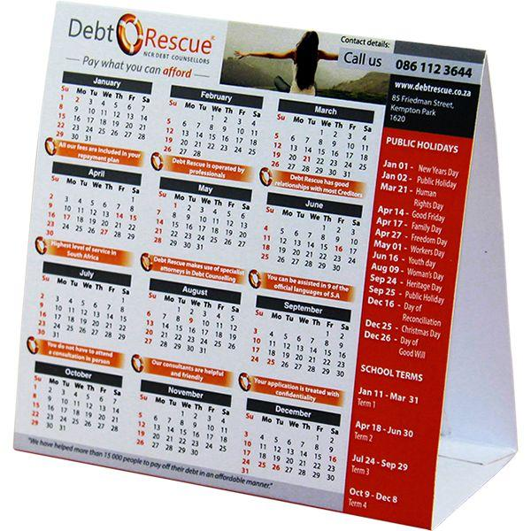 Advertising Tent Calendar With Full Colour