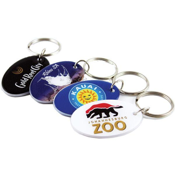 Oval Plexi Key Holder With Full Colour