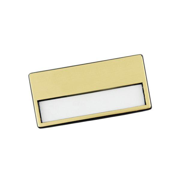Gold Bagde + Pin With 1 Colour