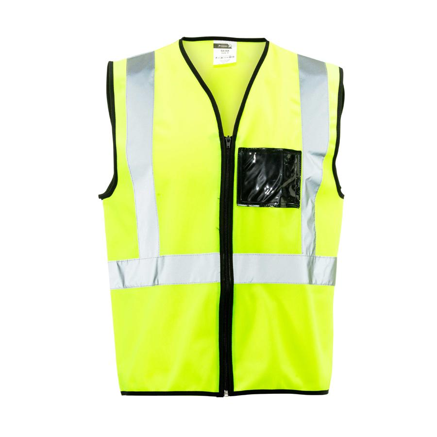 Lime Reflective Vest, Zip, Id 2x Large