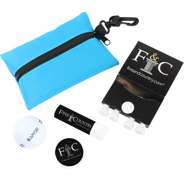 Sun Golf Kit With 1 Colour Print On Pouch