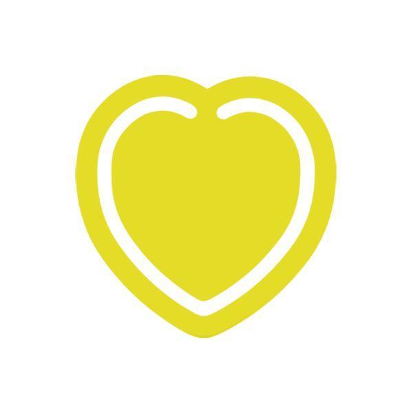 Mini Heart Bookmark With 1 Colour Print