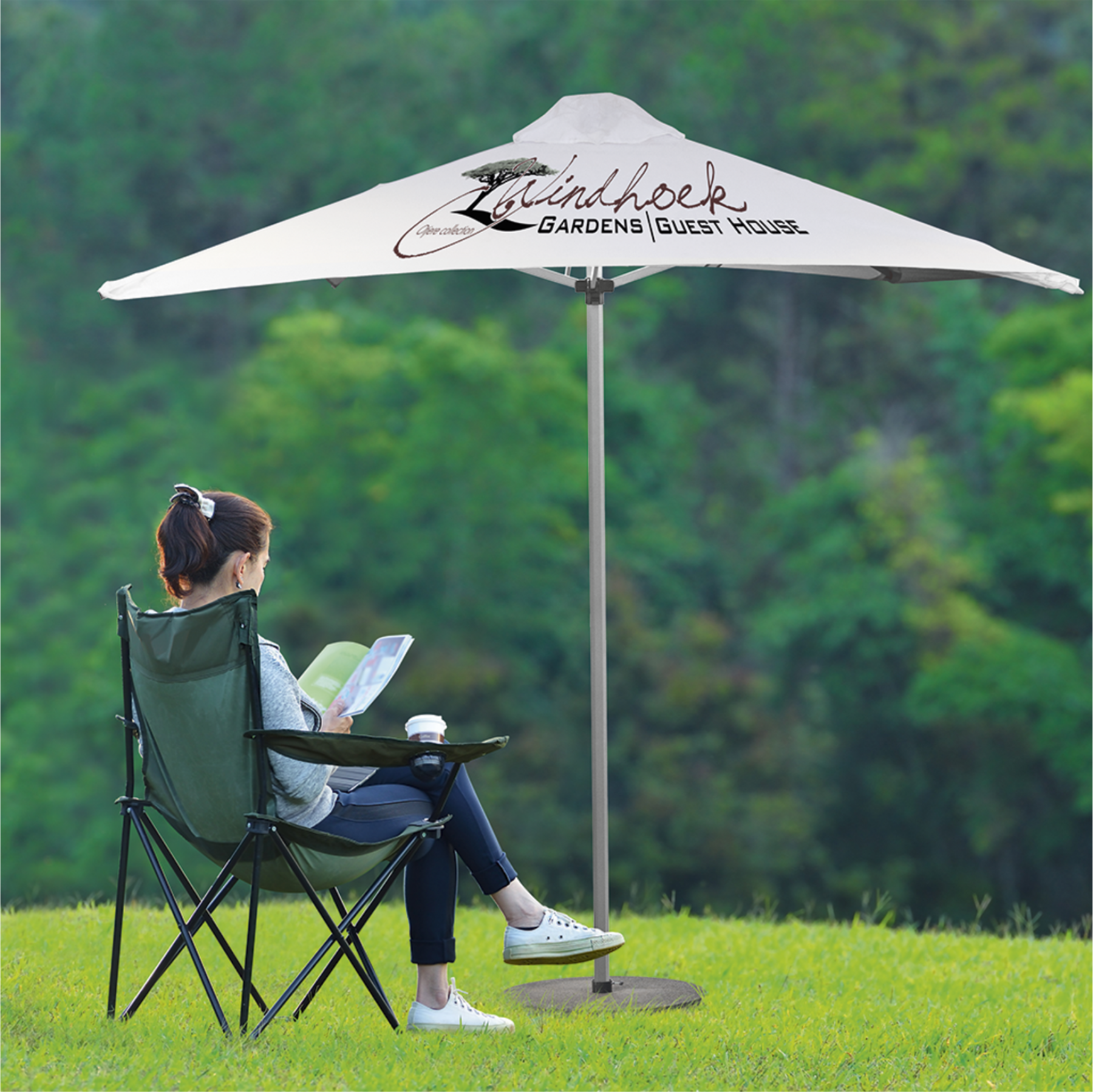 Sublimated Exposure Umbrella (2m X 2m)
